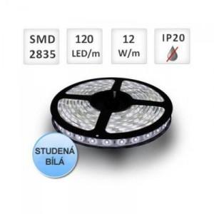 LED pásek 5m 120ks 2835 12W/m, STUDENÁ